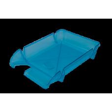 Лоток для бумаг горизонтальный Компакт JOBMAX голубой