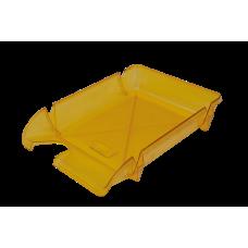Лоток для бумаг горизонтальный Компакт JOBMAX лимонный
