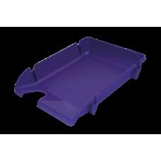 Лоток для бумаг горизонтальный Компакт JOBMAX фиолетовый