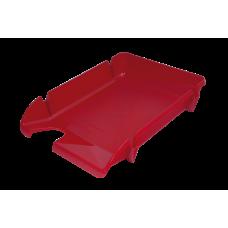 Лоток для бумаг горизонтальный Компакт JOBMAX непрозрачный красный