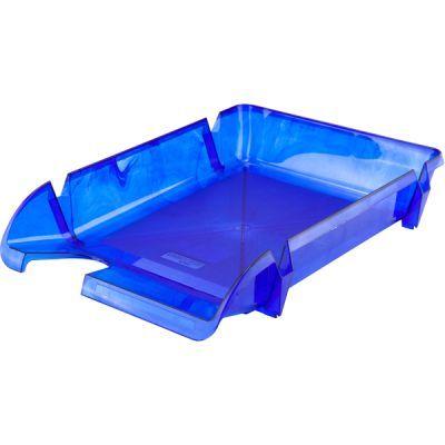 Лоток для бумаг горизонтальный синий (D4000)