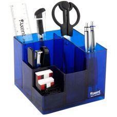 Набор настольный 9 предметов Cube синий