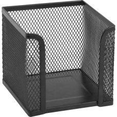Куб для бумаги 100х100x100мм металл черный