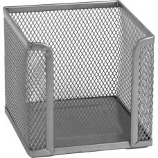 Куб для бумаги 100х100x100мм металл серебро