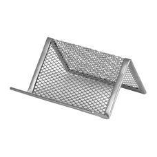 Подставка для визиток 95x80x60мм металл серебро