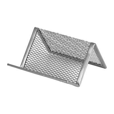 Подставка для визиток 95x80x60мм металл серебро (2114-03-A)