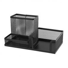 Подставка-органайзер 203x105x100мм металл черный