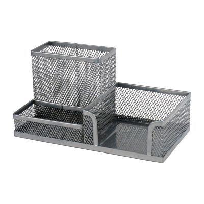 Подставка-органайзер 203x105x100мм металл серебро (2116-03-A)