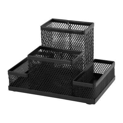 Подставка-органайзер 155x103x100мм металл черный (2117-01-A)