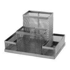 Подставка-органайзер 155x103x100мм металл серебро