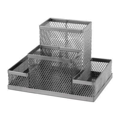 Подставка-органайзер 155x103x100мм металл серебро (2117-03-A)