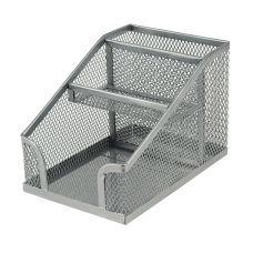 Подставка-органайзер 100x143x100мм метал. серебро