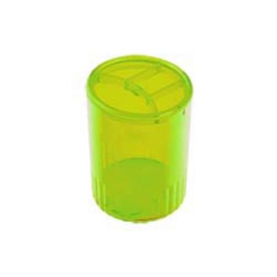 Стакан для ручек 4 отделения пластик салатовый (81979)