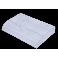 Лоток для канцелярских мелочей пластик прозрачный