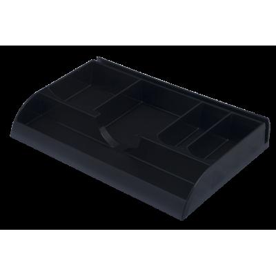 Лоток для канцелярских мелочей пластик черный (81013)
