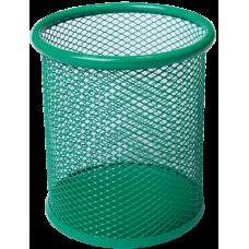 Подставка для ручек круглая 80х80х97мм металл зеленый