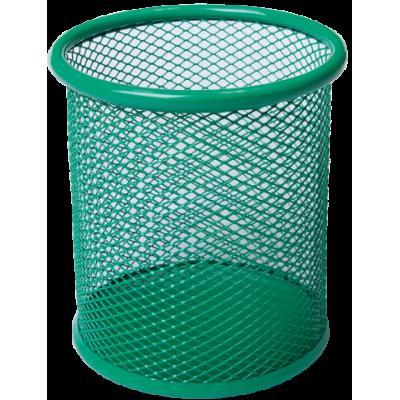 Подставка для ручек круглая 80х80х97мм металл зеленый (BM.6202-04)