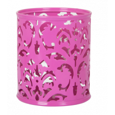 Подставка для ручек Barocco 83х100мм металл розовый
