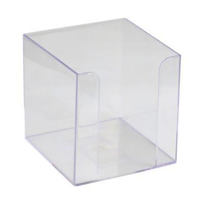 Куб для бумаги 90x90x90мм прозрачный (D4005-27)
