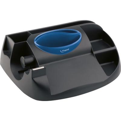 Подставка для офисных инструментов ESSENTIALS GREEN Maxi черный с синим (MP.575100)