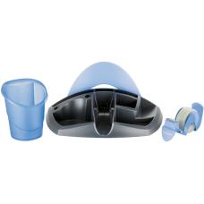 Подставка для офисных инструментов ESSENTIALS DESK черный с синим