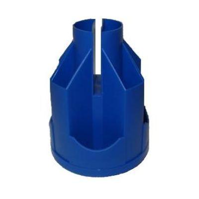 Подставка настольная В21 вращающаяся пластик синий (E32207-02)