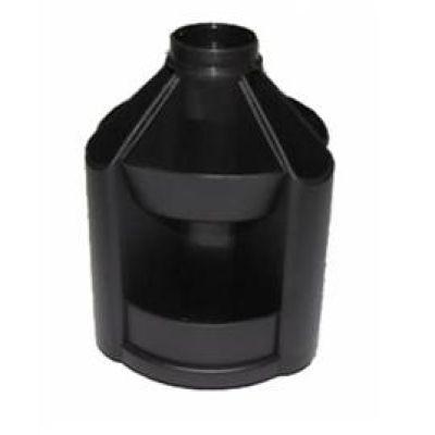 Подставка настольная В23 вращающаяся пластик черный (E32209-01)