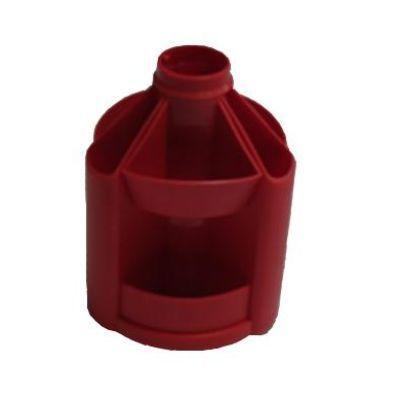 Подставка настольная В23 вращающаяся пластик красный (E32209-03)