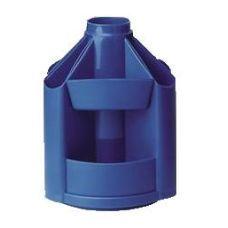 Подставка настольная В41 вращающаяся пластик синий