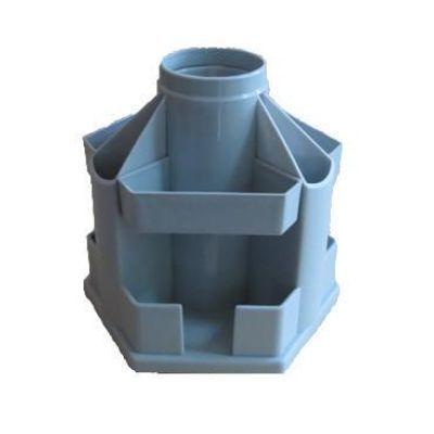 Подставка настольная В61 вращающаяся пластик серый (E32211-10)