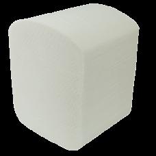 Бумага туалетная листовая 2-х слойная 150шт. белый BUROCLEAN