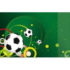 Подкладка для письма Футбол с карманом 665x430мм PVC