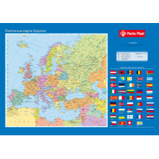 Подкладка для письма Карта Европы 590x415мм