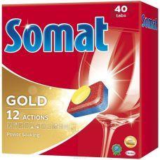 Средство для посудомоечных машин, таблетки Сомат Голд, 40шт