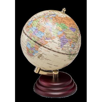 Глобус на деревянной подставке, красное дерево (0909WPM)