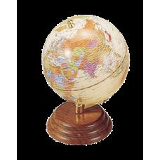 Глобус на деревянной подставке, орех
