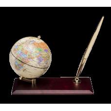Глобус на деревянной подставке, красное дерево