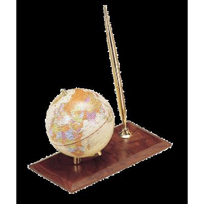 Глобус на деревянной подставке, орех (0910WDN)