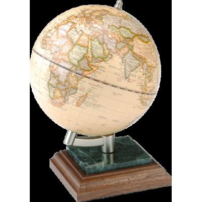 Глобус на подставке дерево и мрамор, орех (0927WPN)