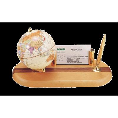 Глобус на деревянной подставке, светлая вишня (0930HDY)