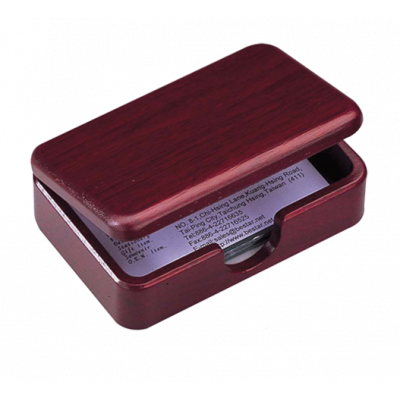 Деревянный контейнер для визиток, красное дерево (1315WDM)