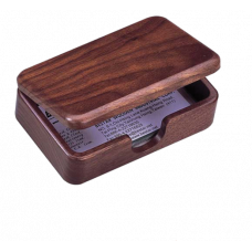 Деревянный контейнер для визиток, орех