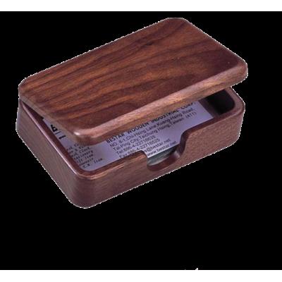 Деревянный контейнер для визиток, орех (1315WDN)