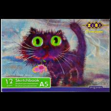 Альбом для рисования А5 12 листов100 г/м2 на скобе