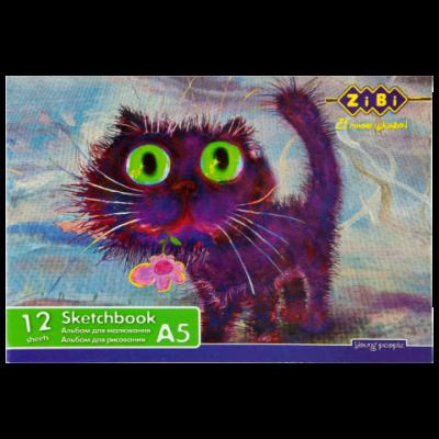 Альбом для рисования А5 12 листов100 г/м2 на скобе (ZB.1419)