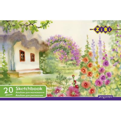 Альбом для рисования А4 20 листов 100 г/м2 на пружине (ZB.1440)