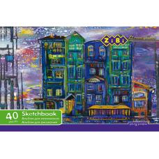 Альбом для рисования А4 40 листов 100 г/м2 на пружине