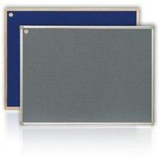 Доска текстильная ABC 65х100см в рамке S-line серый/синий