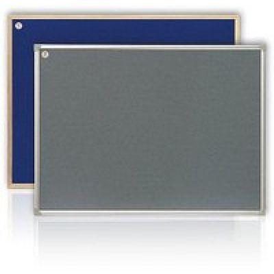 Доска текстильная ABC 65х100см в рамке S-line серый/синий (9610.00.00.00)