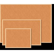 Доска пробковая JOBMAX 45x60см деревянная рамка